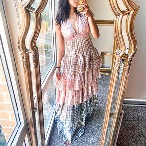 LoveShackFancy Clarissa Dress Gingham Ruffle NWOT